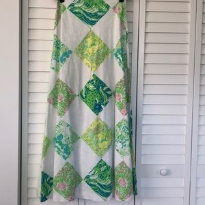 Lilly Pulitzer patchwork Maxi Skirt